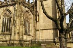 Manchester-Kathedrale-Kirche-Krokus-Fruehling